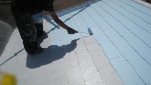 尼崎の屋根塗装(手塗り)