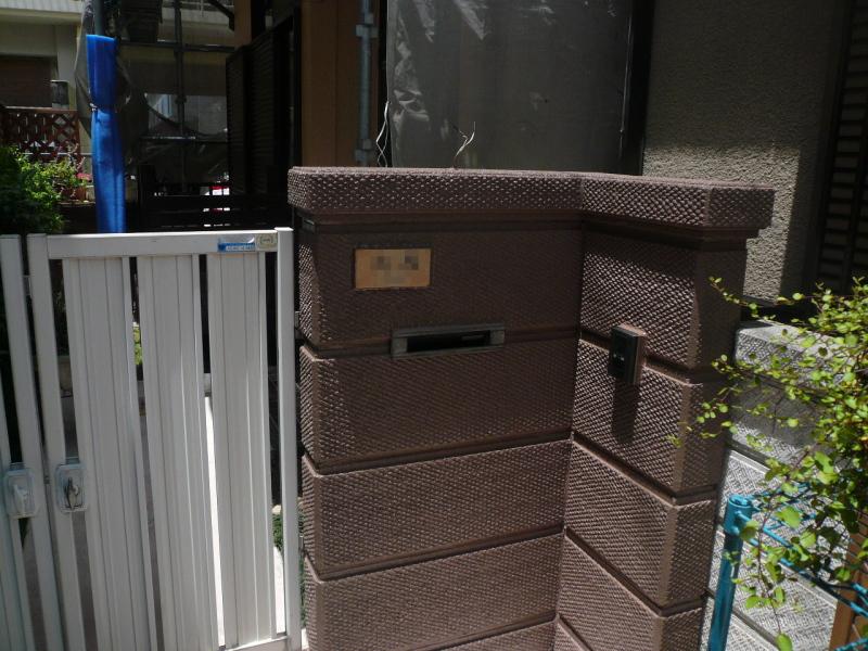 外構・門扉部分の塗装