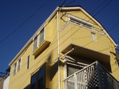 外壁塗装で黄色の住宅