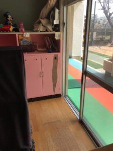 棚の修理、塗装