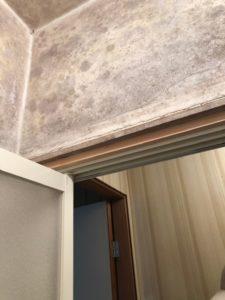 古くなった風呂のドアの塗装