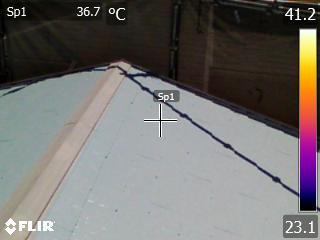 断熱塗料を塗った屋根