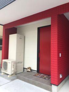外壁塗装で赤色